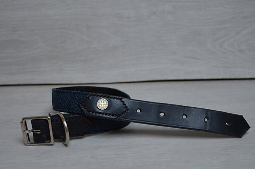Herringbone Half Leather Collar