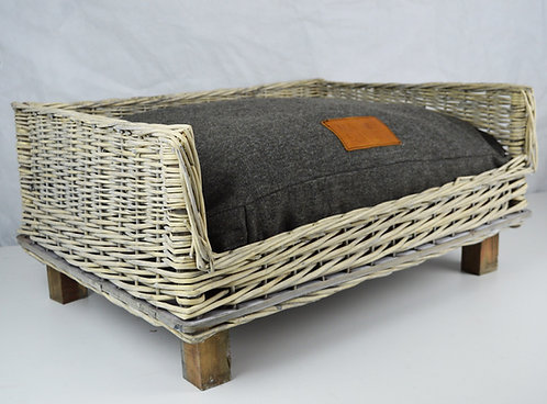 Wicker dog bed and mattress