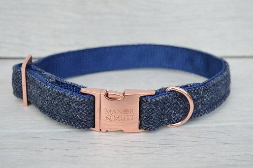 Blue Tweed Collar