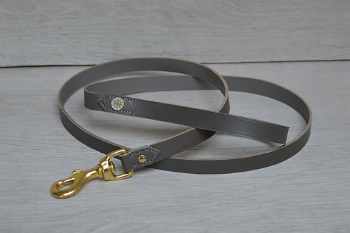 Dove Grey Leather Lead