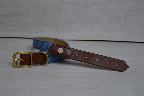 Cornflower Half Leather Collar