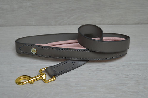 Padded Leather Lead Baby pink