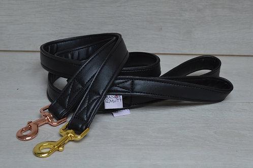 Black Faux Leather Lead
