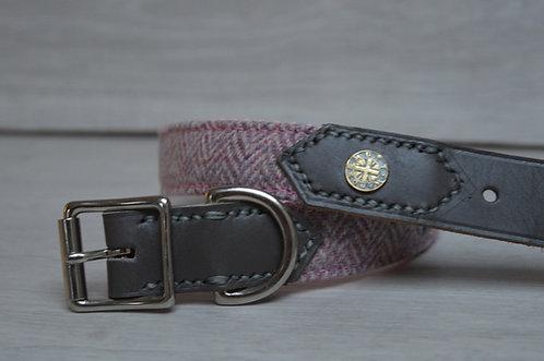 Pink Half Leather Collar