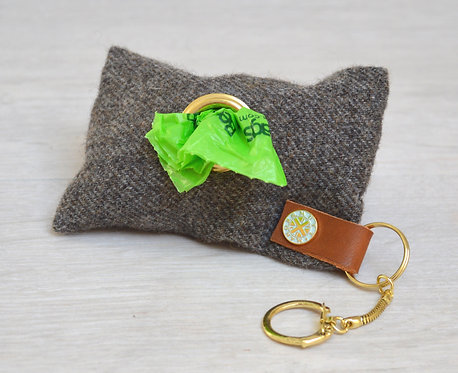 Tweed Poo Bag Holder