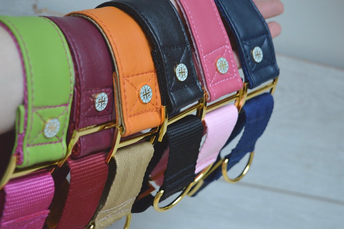 Faux leather Martingale collars