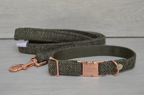 Sage British Tweed collar