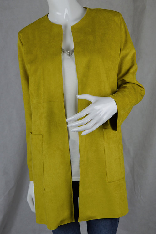 EMME Acid yellow faux suede jacket