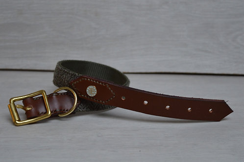 Sage Half Leather Collar