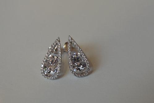 Tear drop Cubic Zirconia Earrings