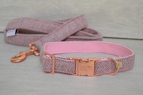 Pink British Tweed Collar