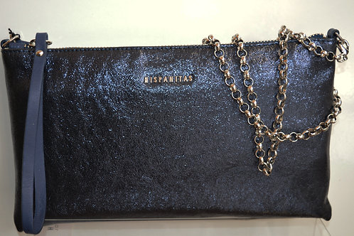 Hispanitas Navy Leather Bag