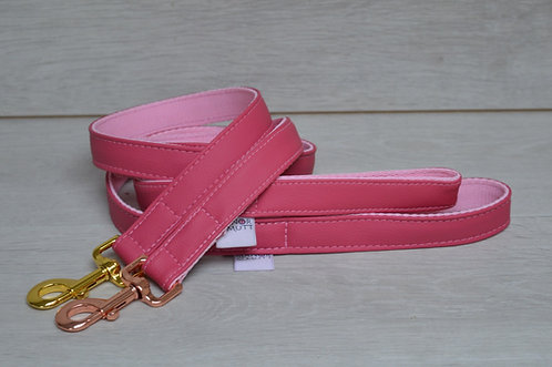 Rose Blush Faux Leather Lead