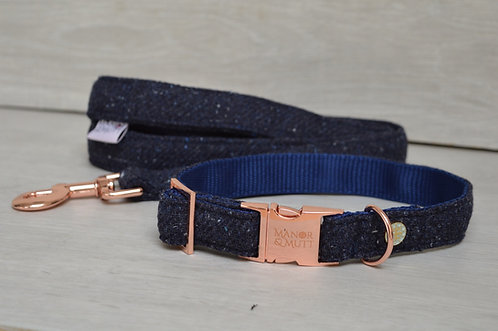 Navy Speckle Tweed Collar