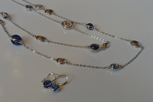 Clear Glass Station Necklace