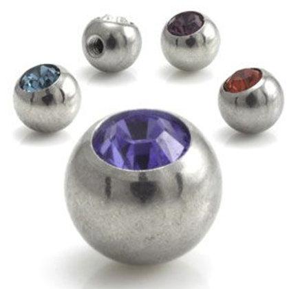 Steel Forward Facing Gem Balls