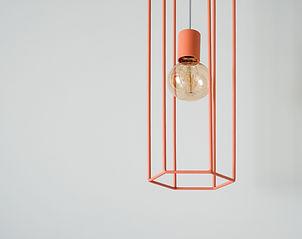 Orange Hanging Lamp