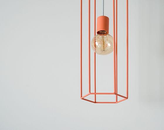 Lampe suspendue orange