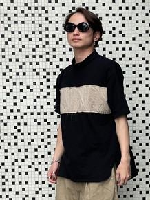 モックネックワイドTシャツ