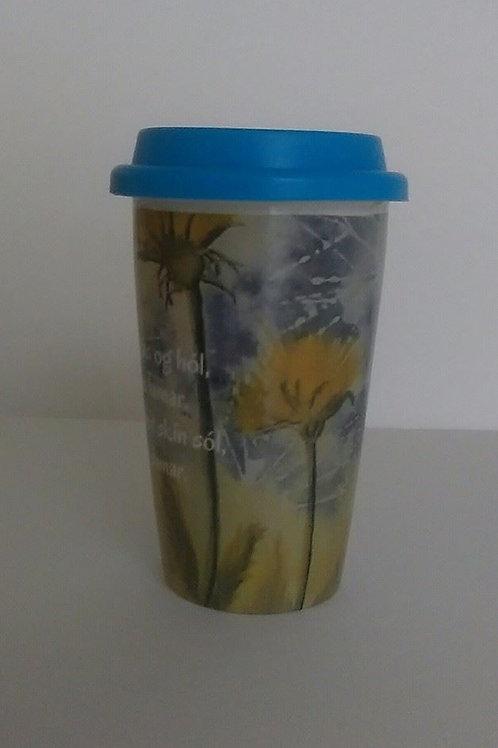 Porcelain cup with a poem  (double porcelain)