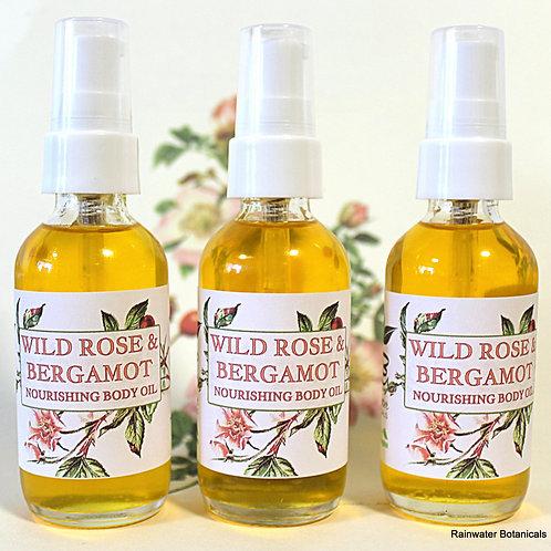 Wild Rose & Bergamot Body and Bath Oil