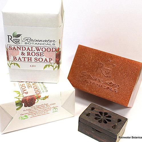 Sandalwood & Rose Palm Free Vegan Soap