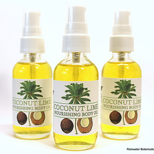 Coconut Lime Body and Bath Oil