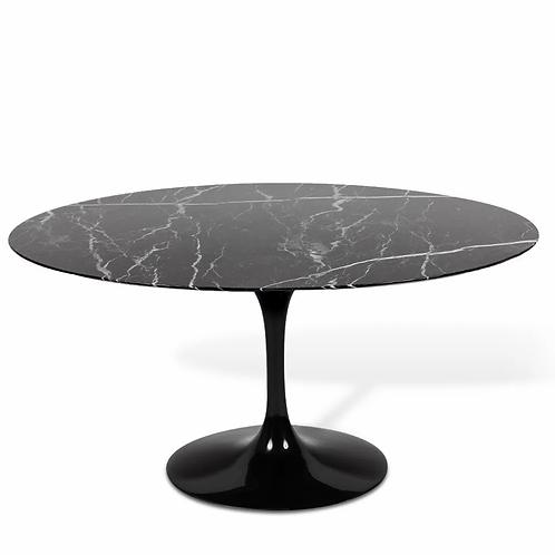 Mesa Saarinen Oval - Nero Marquina