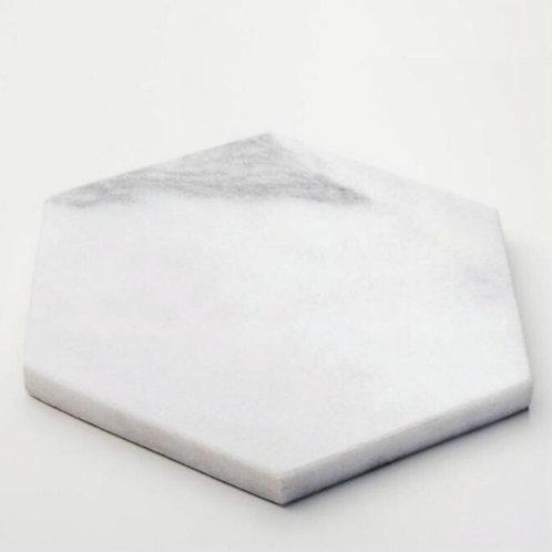 Tabua sextavada mármore branco
