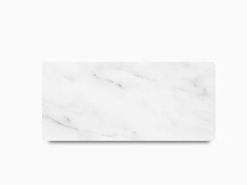 Tábua de mármore Carrara retangular
