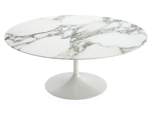 Mesa Saarinen Oval - Branco Carrara.