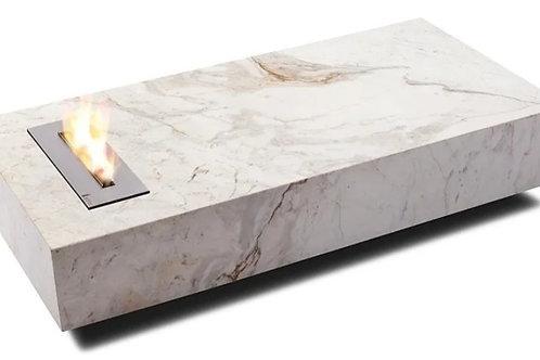Lareira móvel - mármore branco Paraná.