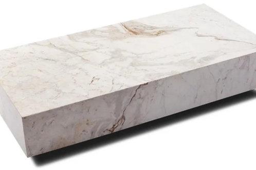 Mesa de centro - mármore branco Paraná.