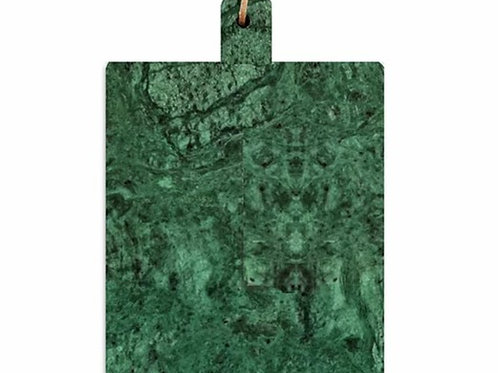 tábua de mármore verde.