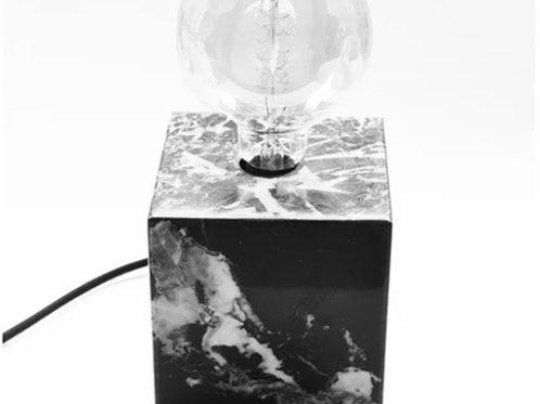 Luminária de mármore Nero Marquina
