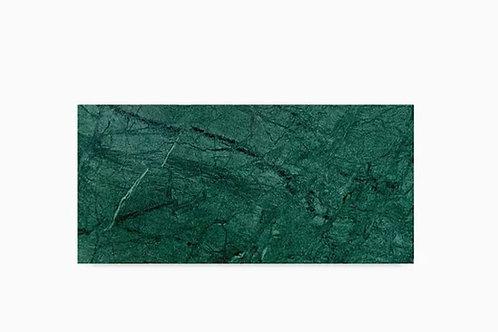 Tábua de mármore verde Alpi retangular
