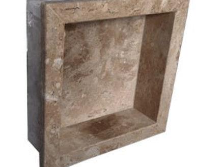 Nicho para Banheiro Mármore Travertino- 40cm x 30cm
