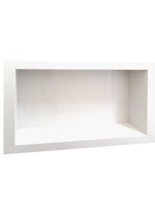 Nicho Para Banheiro de Mármore Branco Prime 30cm x 40cm Branco Prime