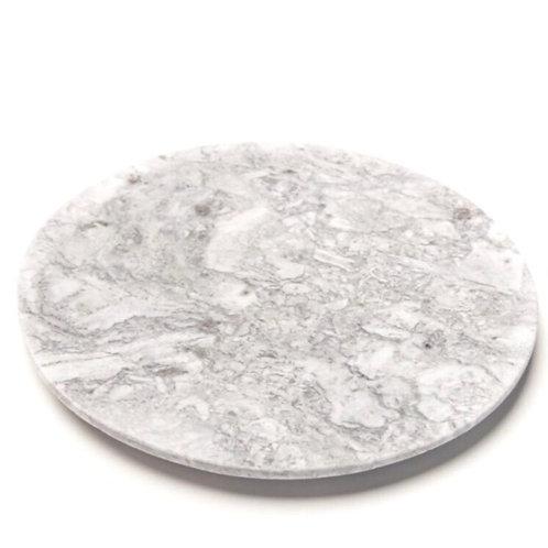 Tabua Redonda em Mármore branco