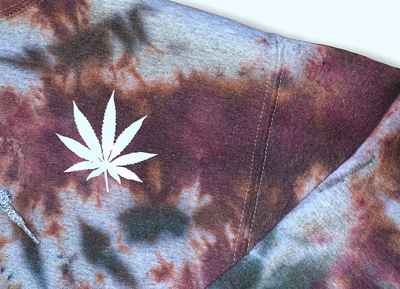 Adult Small Burnout Tie Dye Hoodie