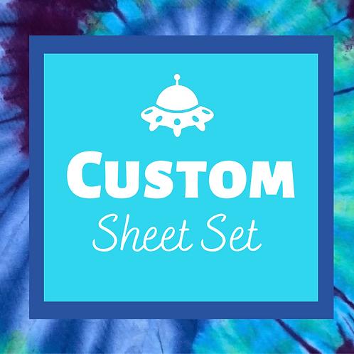 Custom Tie Dye Sheet Set