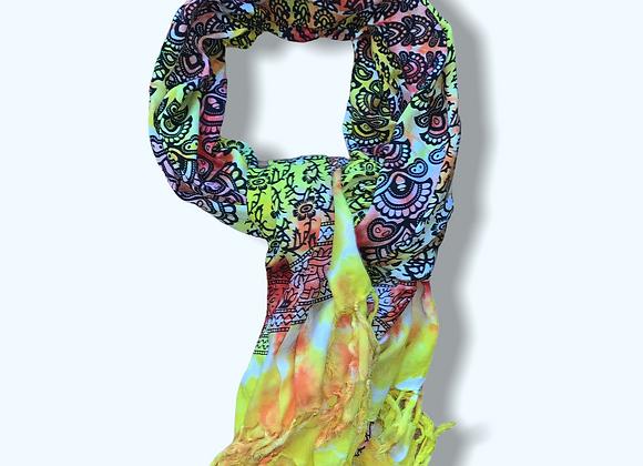 Mandala Sunfire Scarf/Sarong/Tapestry