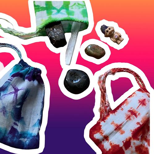 Tie Dye Crystal Bag