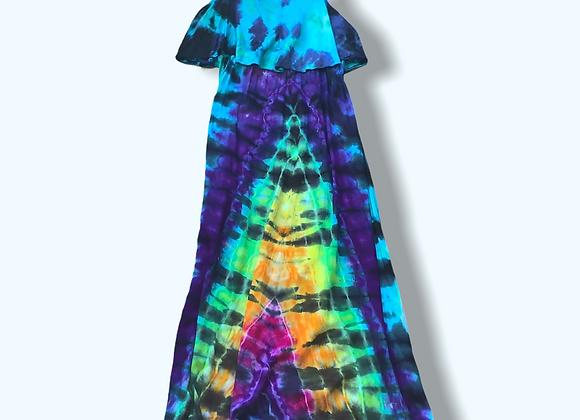 XL Maxi Rainbow Mountain Tie Dye Dress