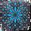 Thumbnail: 8 ft. x 8 ft. Blue Flower Tie Dye Tapestry