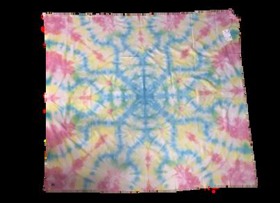 2ft. x 4.5 ft. Electric Flower Tie Dye Tapestry