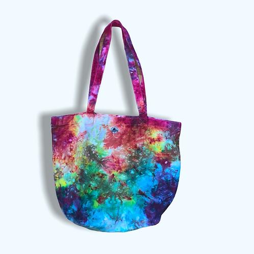 Mystical Rainbow Tie Dye Canvas Tote Bag