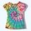 Thumbnail: Girls Medium Hello Kitty Mystical Rainbow Tie Dye Upcycled Shirt