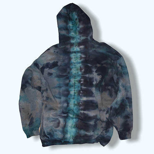 Adult 3X Alien Encounter Tie Dye Zip-up Hoodie