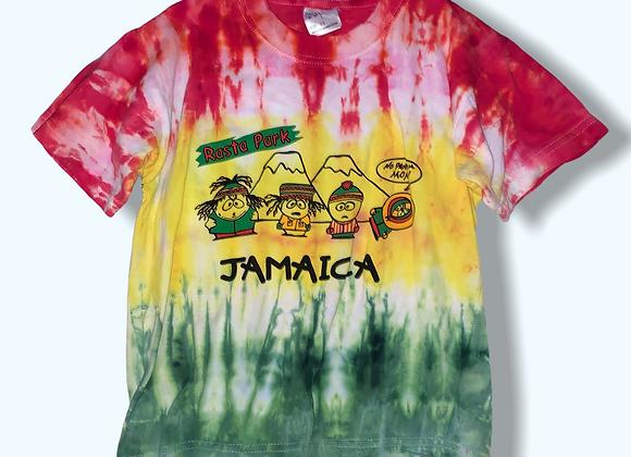 Kid's Small Rasta Park Tie Dye Shirt Upcycle